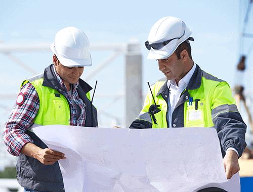 Engineers on worksite